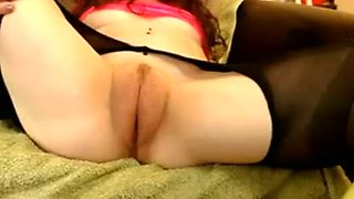 Awesome big cameltoe of lusty nympho is exposed on webcam