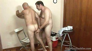 Gay daddy loves to fuck his handyman hard