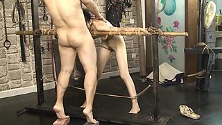 Chinese model in BDSM video
