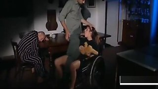 Disabled daughter in wheelchair