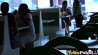 Hot Filipina office girl chased down by horny tourist for