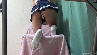 Japanese Schoolgirl Upskirt and Cameltoe