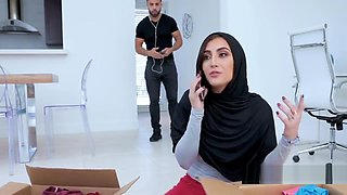 Sister in HIJAB fucked by BROTHER- BDSM