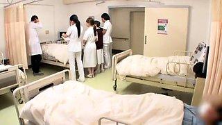 Naughty Asian nurses seize the chance to enjoy hardcore sex