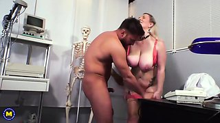 Mature, German Woman With Big Milk Jugs Likes To Get Fucked Hard, Until She Cums