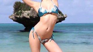 Exotic Japanese whore Meisa Chibana in Fabulous Outdoor, Bikini JAV movie