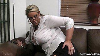Office Style Blonde Bbw