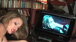 British floozy Renee Richards acquires screwed after watching porn