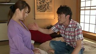 Hot Japan mature bends her curvy ass for a heavy dose of dick