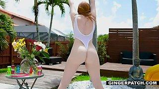 Redhead Amber Stuffed with a Stiff