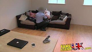 FakeAgentUK: exclusive Satine Spark in original casting couch UK video