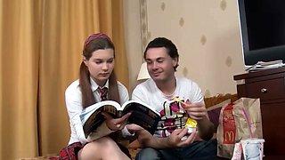 Brunette Russian schoolgirl does only anal - VIPteengirls