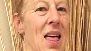 Skinny Granny Fucks the Boy
