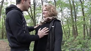 Sophia Lora sexy bbw mature get fucked in the woods