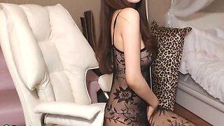 Beautiful Korean camgirl in sexy tights