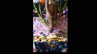 Lockdown at my girlfriends home Romantic desi Indian teen sex scene