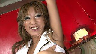 Crazy Japanese chick Juri Sawaki in Amazing JAV uncensored Big Tits movie