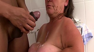 midget granny big cock interracial fucked