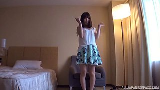 Nice ass Japanese chick moans while getting fucked balls deep