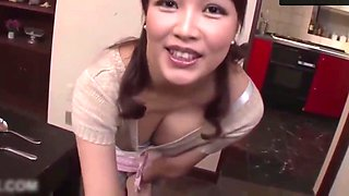 Hot Japanese step mom, A affair with father in law