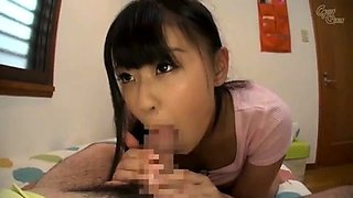 Japanese School Girl Is Giving Footjob and Handjob