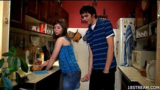Teen loves it in the kitchen