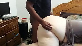 Young black bull fucks my bbw wife doggystyle