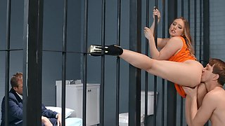 Big booty darling AJ Applegate gets buttfucked in prison