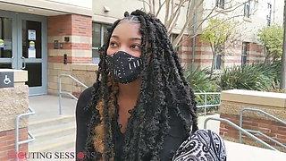 Beautiful Ebony Virgin Gets Soles Sucked