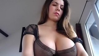 Incredible homemade Big Tits, Stockings sex movie