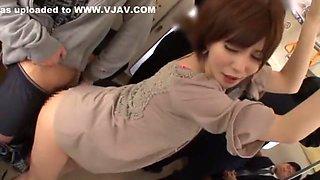 Crazy Japanese model Yuria Satomi in Incredible Bus JAV movie