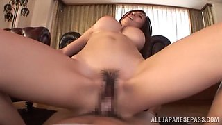 Arousing Japanese doll Julia demonstrates blowjob skills