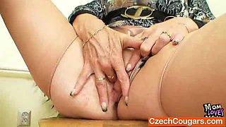 Cougar teacher loves to masturbate after school