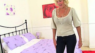 British grannies Molly and Zadi wear sexy nylon tights