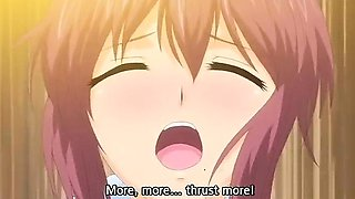 Horny adventure, romance anime clip with uncensored big