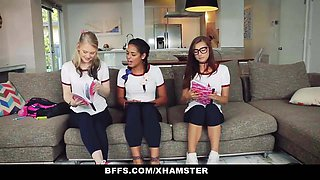 BFFS - Naughty Teen Tutors Seduce Student