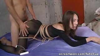 Rumi Kamida naughty Asian doll in mmf bondage sex